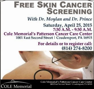 4-25 Free Skin Cancer Screening