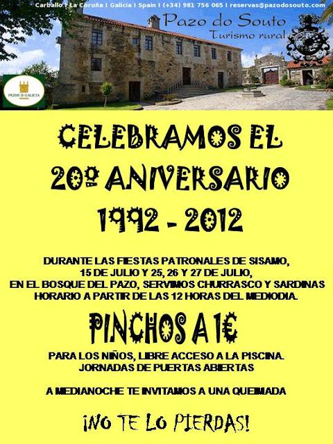 Fiesta 20ª Aniversario Pazo do Souto - Turismo Rural de Galicia - Fiestas de Sisamo - Carballo