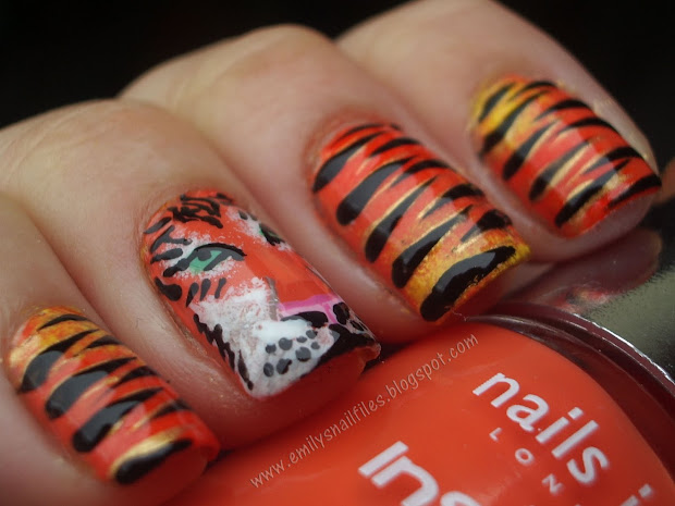 craft nail tiger nails - tutorial