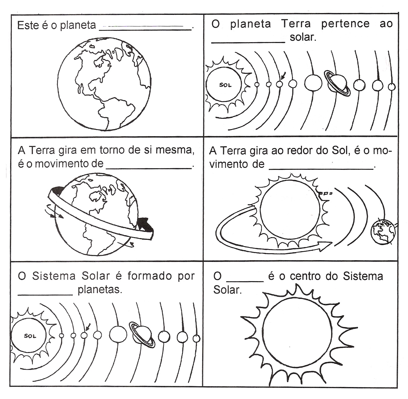 Sistema Solar   Atividades