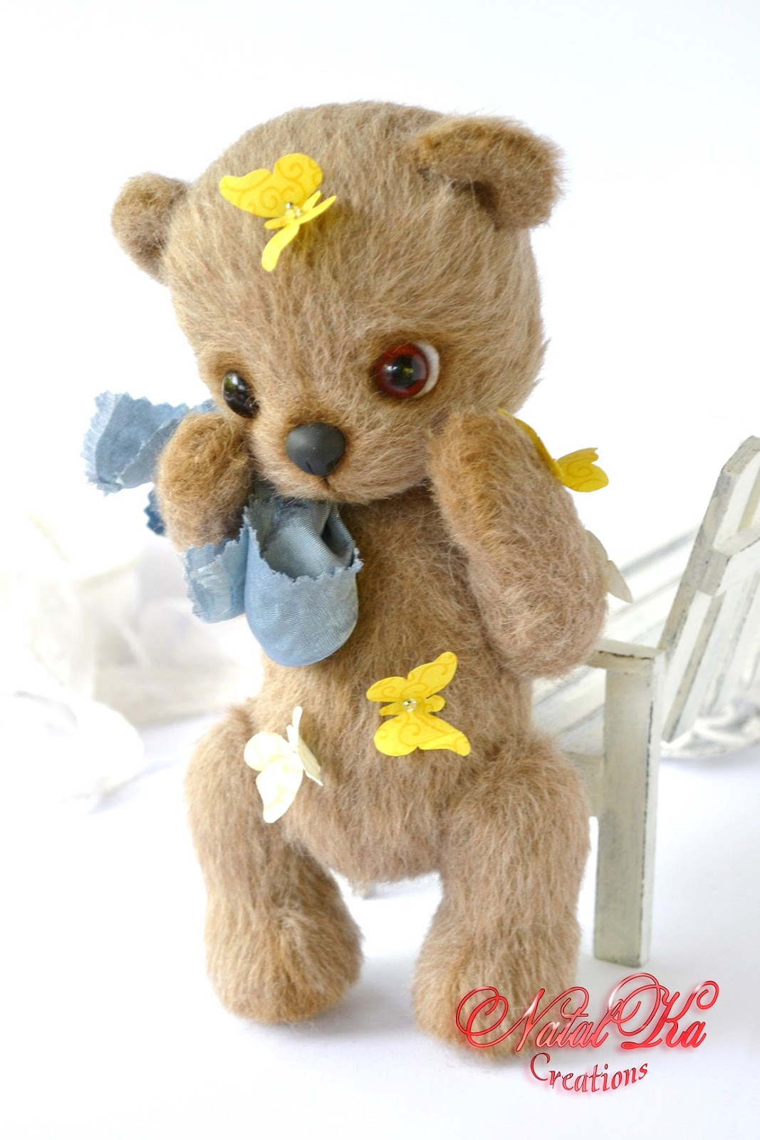 Artist teddy bear, teddy bear handmade, teddy ooak, jointed bear, handmade bear by NatalKa Creations. Авторский мишка тедди ручной работы от NatalKa Creations