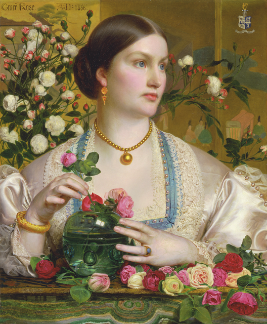 Victorian painting,roses, Sandys