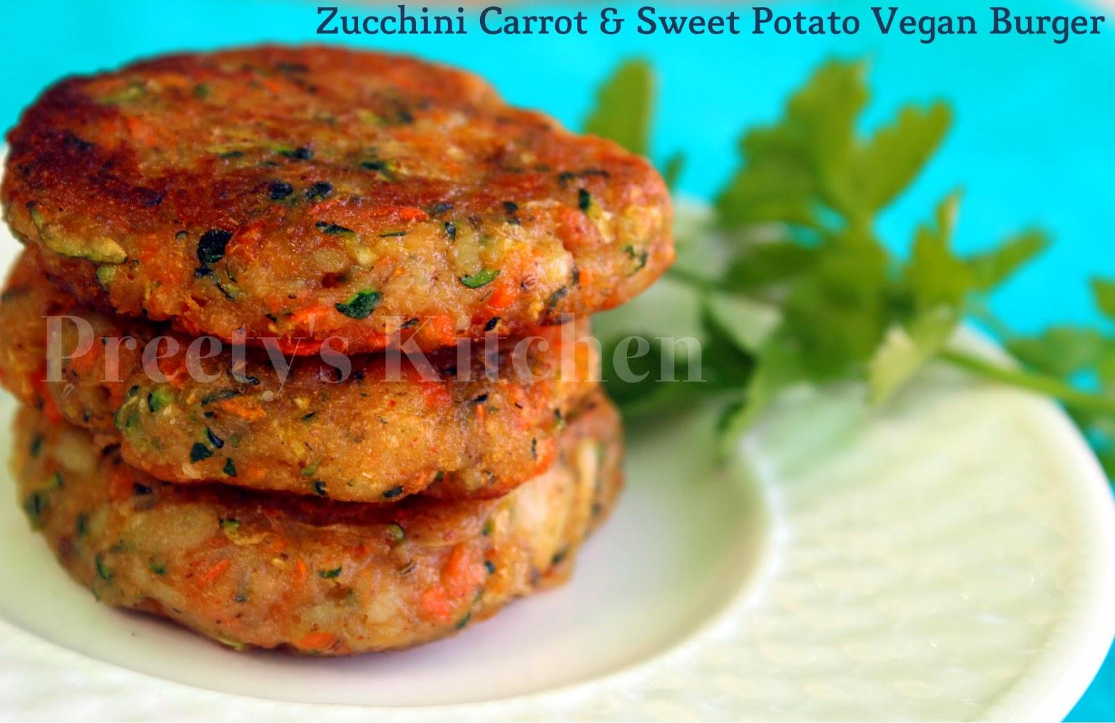 Preetys kitchen zucchini carrot sweet potato vegan burger zucchini carrot sweet potato vegan burger patty tikki forumfinder Choice Image