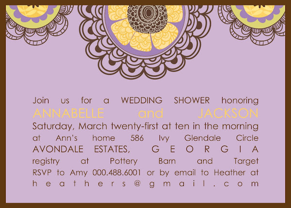 Carolina Bridal Shower Invitation