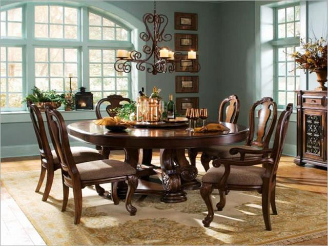 ashley furniture round dining room tables furniture design blogmetro. Black Bedroom Furniture Sets. Home Design Ideas