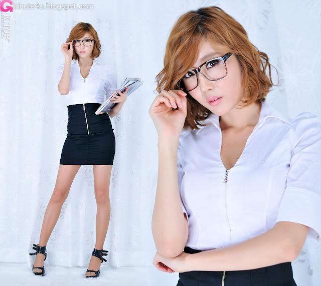 Choi-Byul-I-BW-Office-Lady-01-very cute asian girl-girlcute4u.blogspot.com