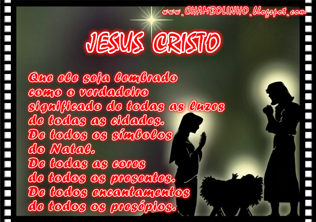 Recadinho Mensagem de Natal Jesus Cristo