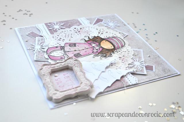 Tarjeta Gorjuss Shabby Scrapbooking