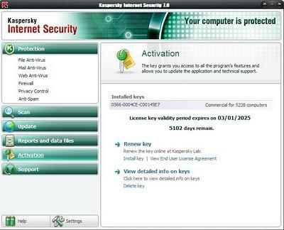 Бесплатно скачать антивирус касперского 7.0.0.125 ключ лицензионный.