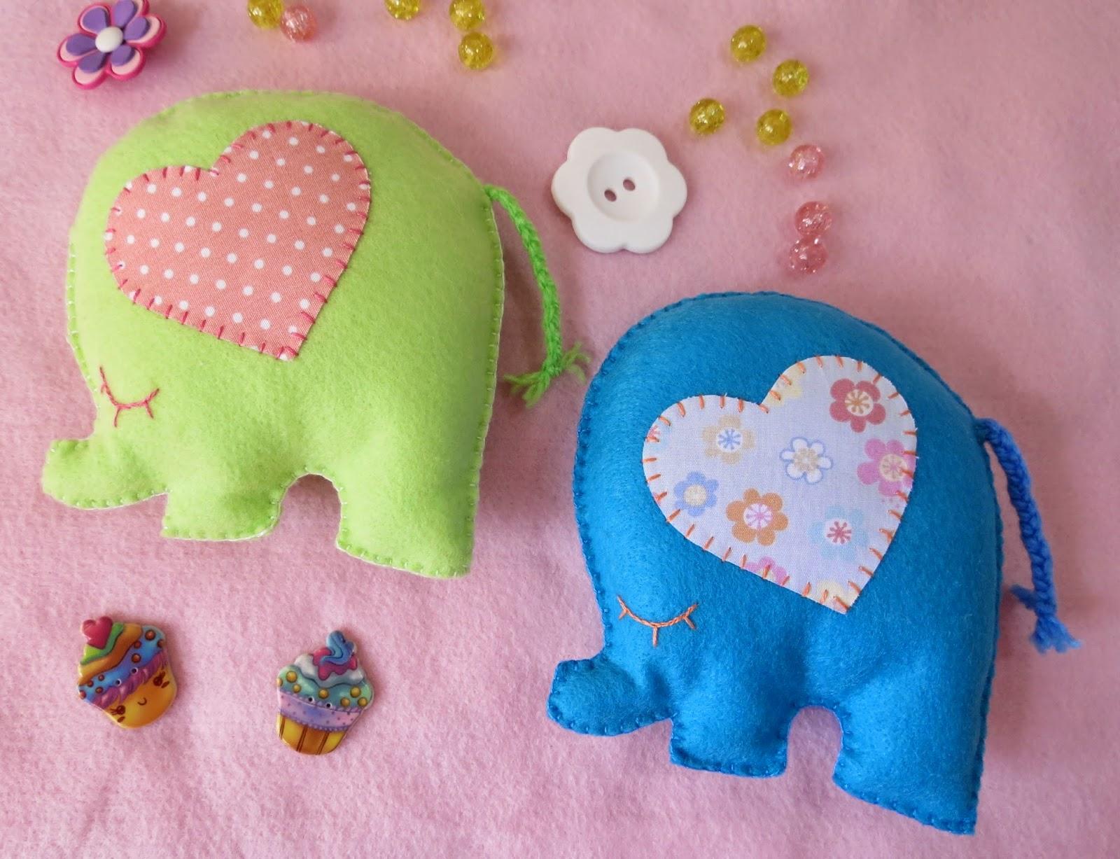 Adesivo Azulejo Pastilha Resinada ~ Arte e Mimos Artesanato em feltro Elefantinho colorido