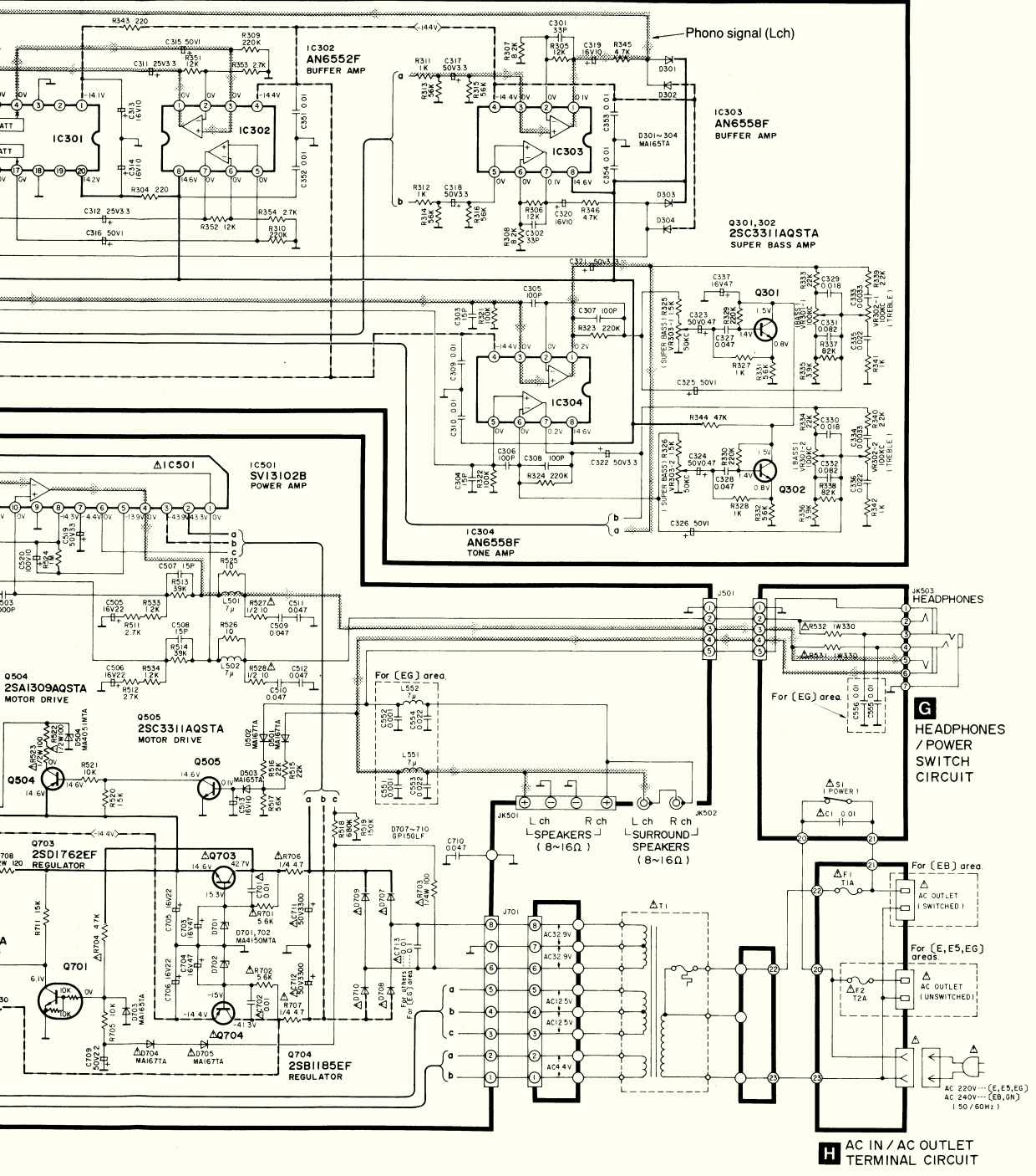 technics sux 933  u2013 digital integrated amplifier  u2013 circuit
