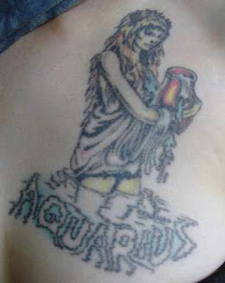 Zodiac Symbol Aquarius Sign Tattoo Design