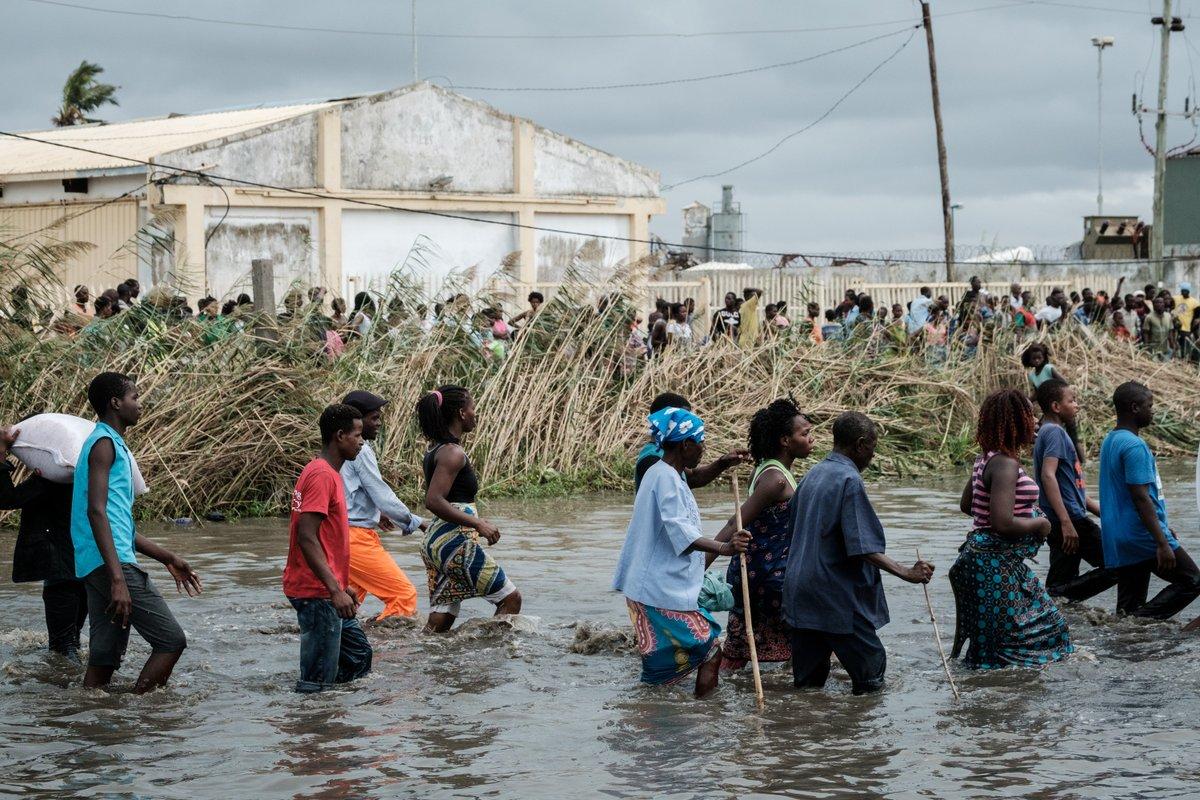 Número de mortos por ciclone em Moçambique, Zimbábue e Malawi