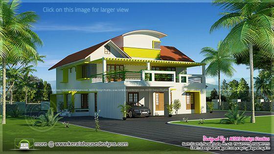 Modern mix villa