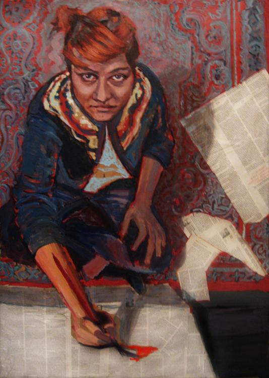 portrety na zamówienie kobieta dziewczyna ujęcie z góry Urbaniak kolaż