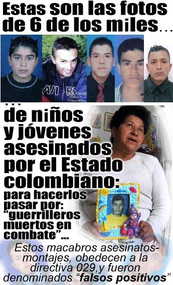 """Enfants et Jeunes civils assassinés par l´etat pour déguiser les cadavres... Nommés """"faux-positifs"""""""
