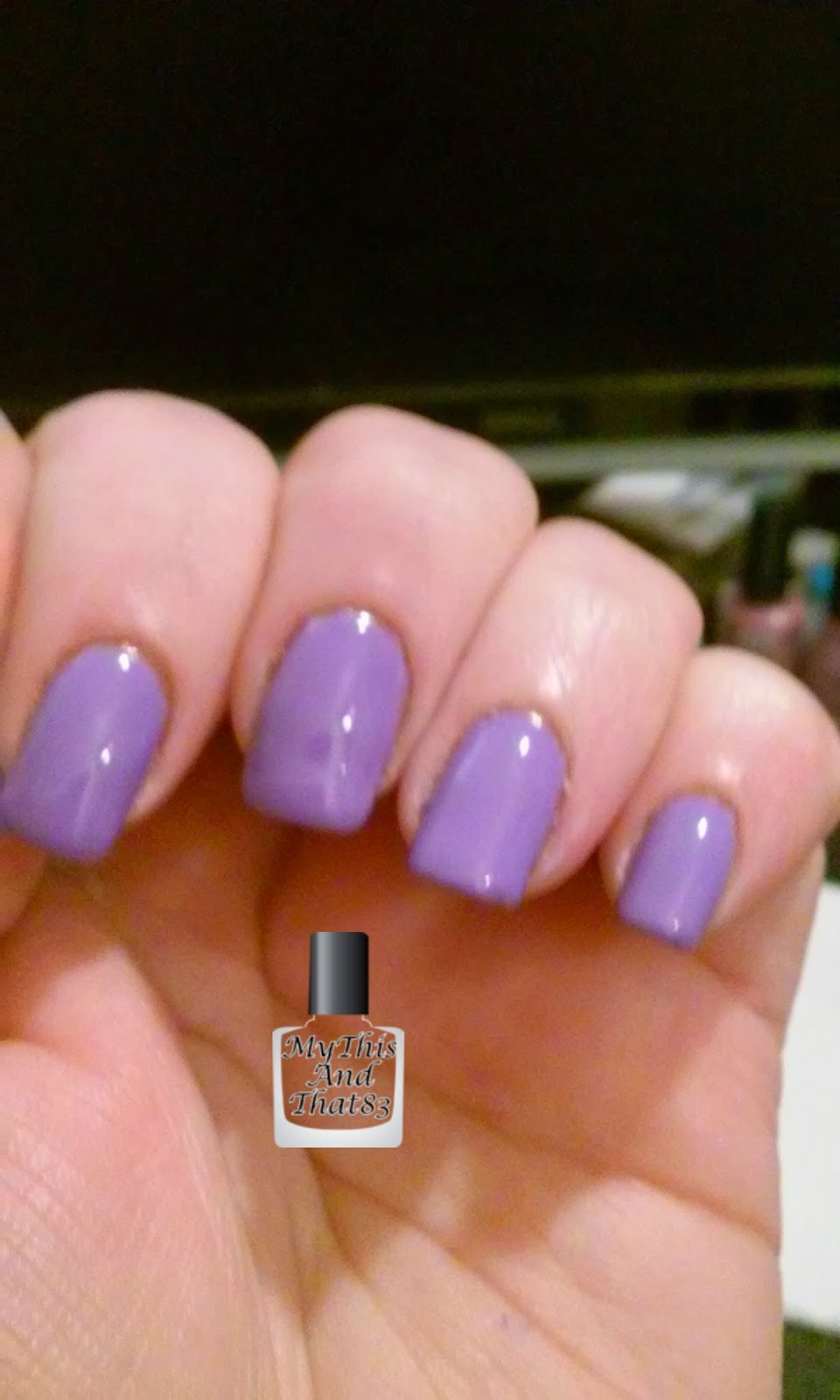 kleancolor nail polish pastel purple