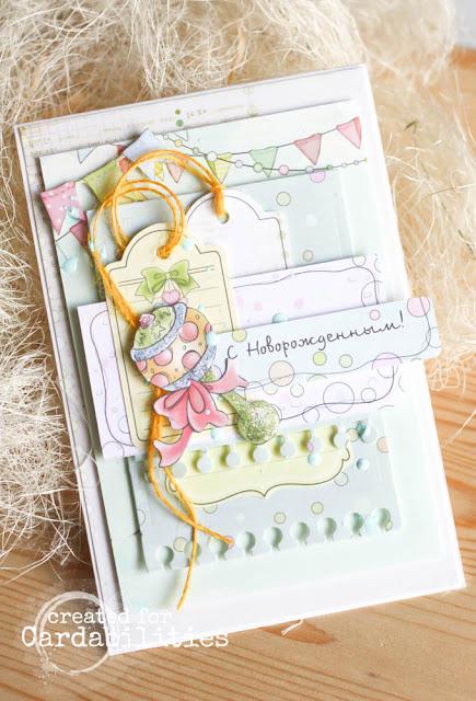 детская открытка, с новорожденным, открытка новорожденному, открытка малышу, анастасия костина, Kosana Art