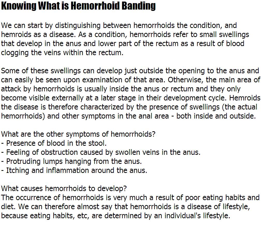 What Is Hemorrhoids – Knowing What is Hemorrhoid Banding | noahauden