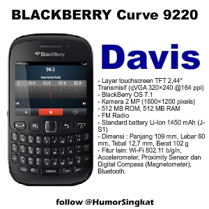 Blackberry 9220 Baru 2012 BlackBerry Davis Masuk Indonesia