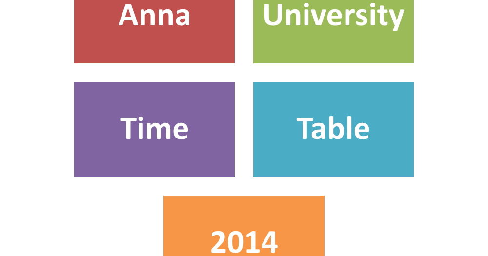 Anna university tentative exam schedule 2014 www for Bu time table 6th sem