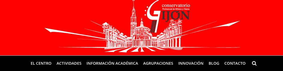 Web del Conservatorio de Gijón