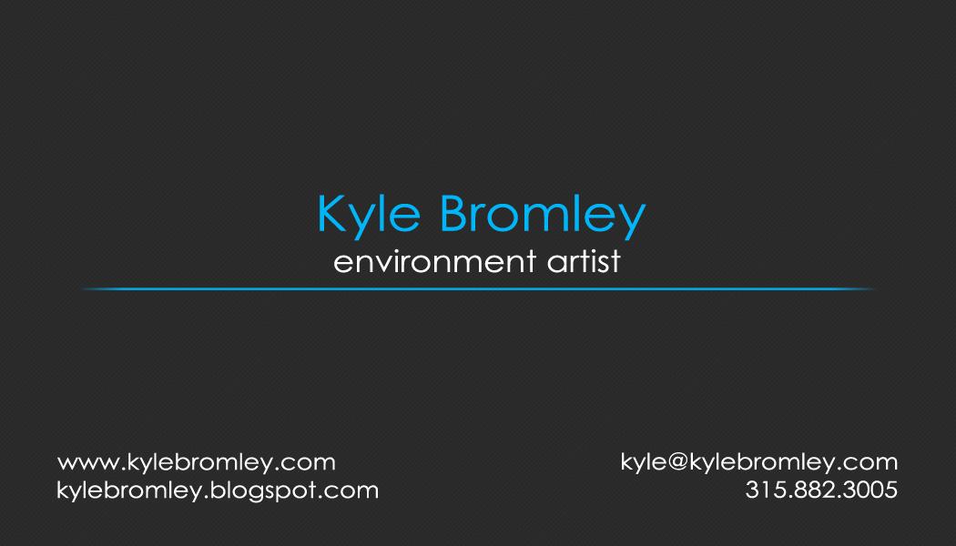 Kyle Bromley - 3d Artist: Progress