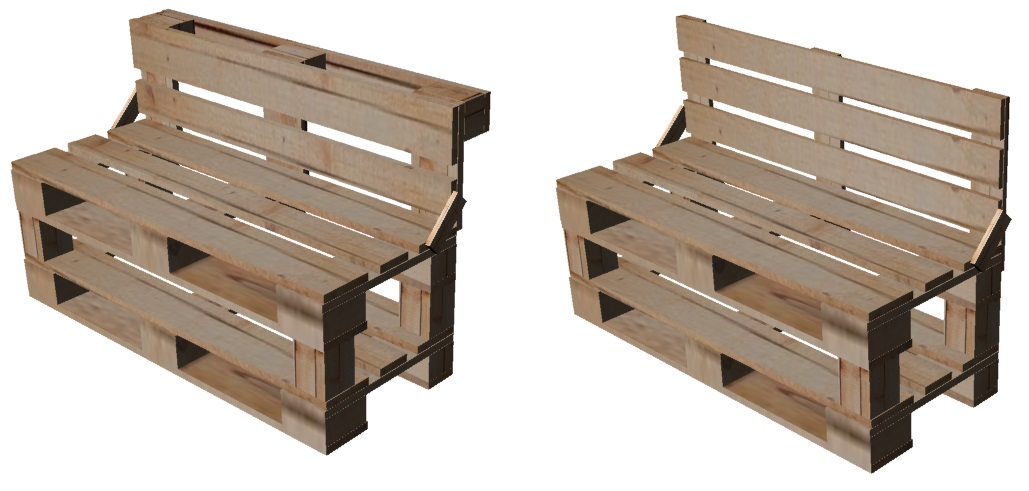 Idea design ecologico tipologie di panca for Panca pallets