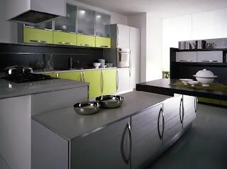 Modern Olive Kitchen Cabinets
