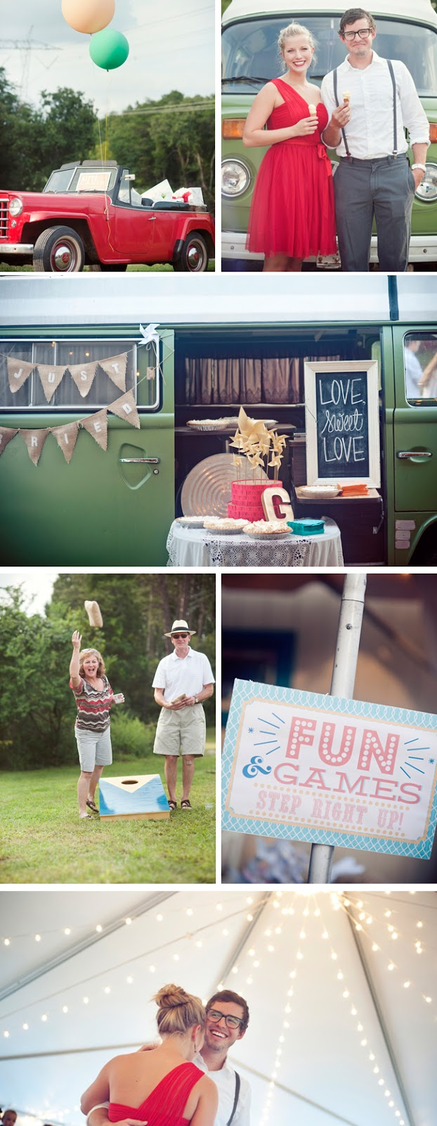 colorful carnival-themed DIY wedding from jennie andrews photography