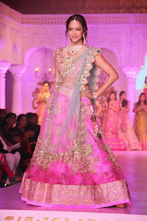 Manchu Lakshmi in lovely Costly Heavy Work Ghagra at 2015 Hyderabad Deccan fashion show