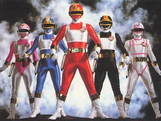 Equipe do super sentai japonês Esquadrão Relâmpago Changeman