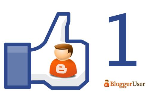 Nút thích chính chủ của Blogger