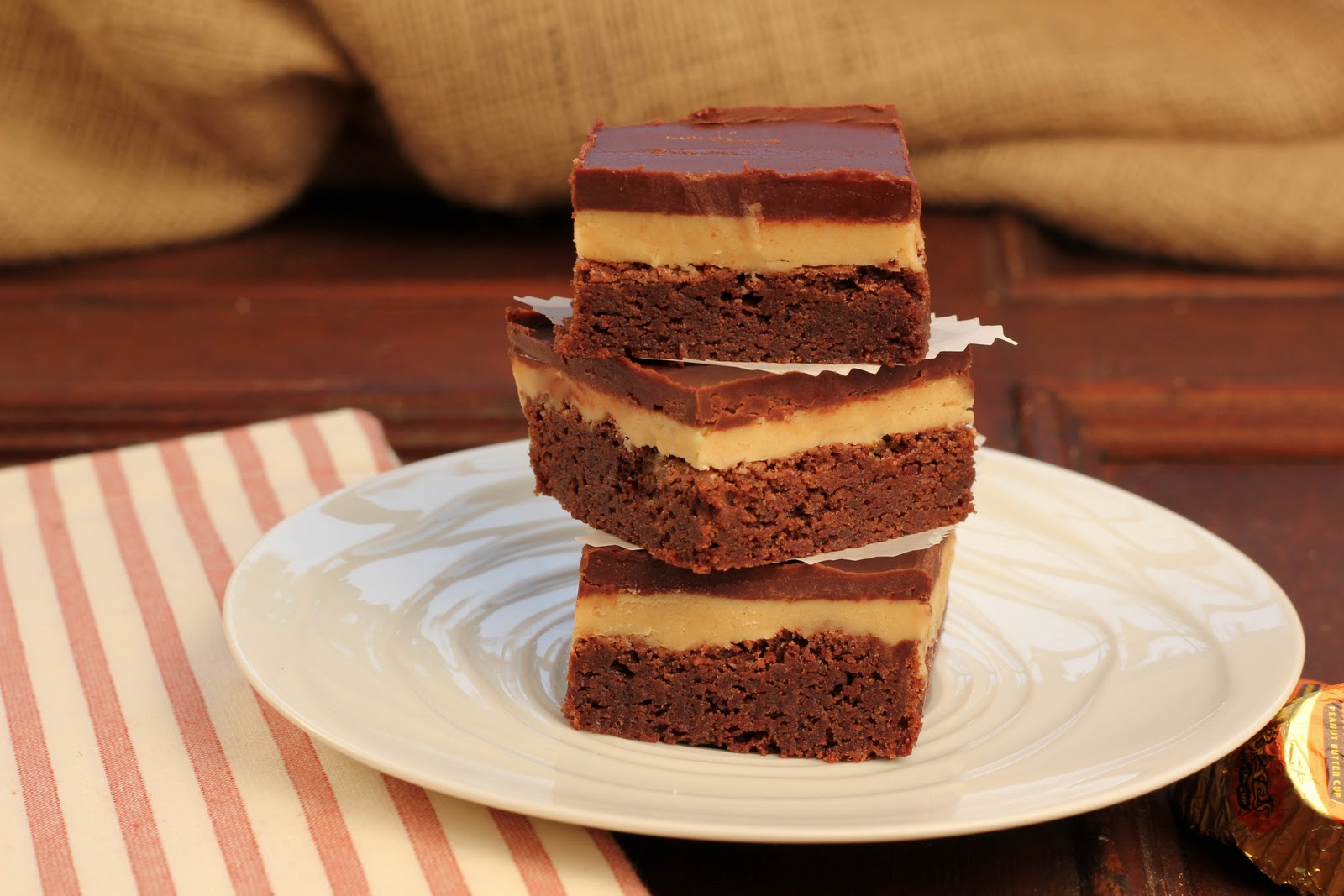 Peanut Butter Truffle Brownies - That Skinny Chick Can Bake