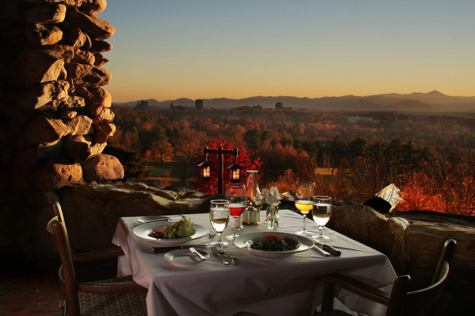 Top 5 sunset spots in asheville for The terrace restaurant