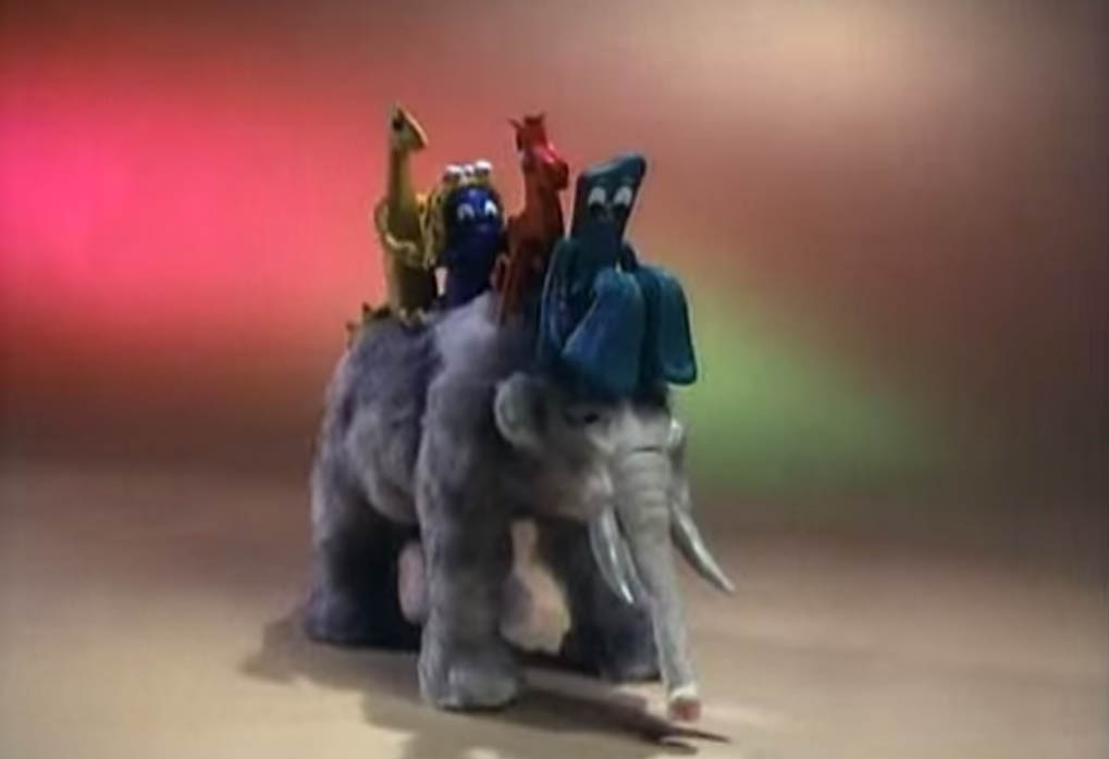Remembering Gumby with friends Pokey, Prickle, Goo, and Denali in Gumby Adventures in 1988