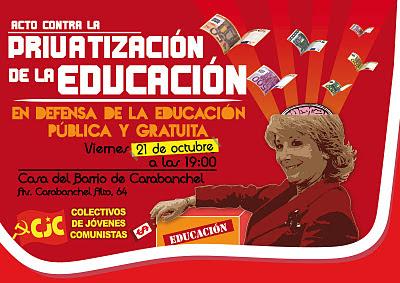 [Carabanchel] Acto contra la privatización de la educación Acto%2Beducaci%25C3%25B3n-01