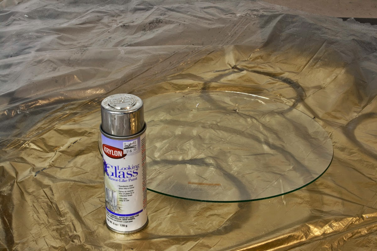 krylon looking glass paint, DIY Convex Mirror