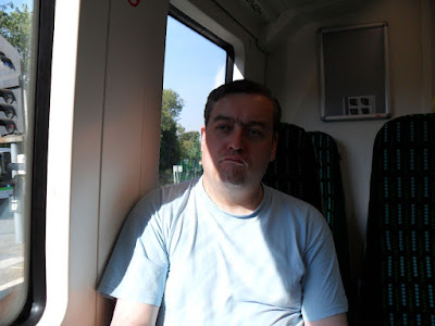 Mr Wood ponders on his trip on a #shinynewtrain