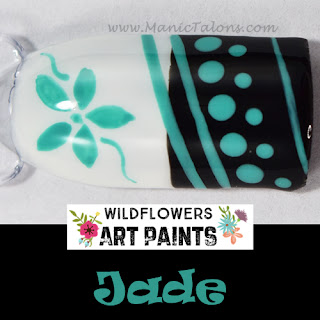 Wildflowers Nail Art Paint Jade