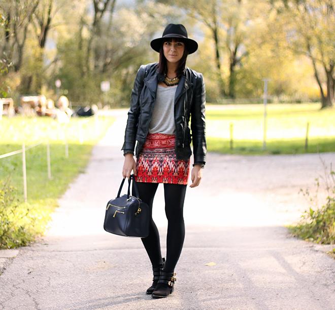 outfit trend fashionblogger bohorock Handm boots tamaris schnallen lederjacke zara 05