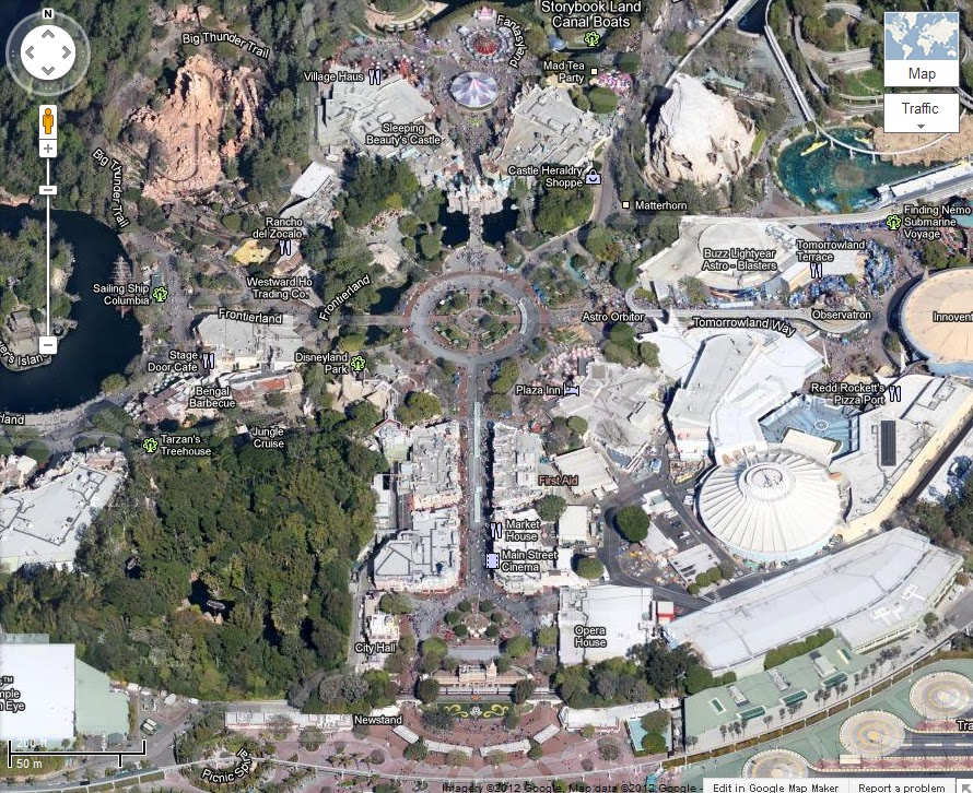 Between Disney: Dreaming Disney - Google Maps on