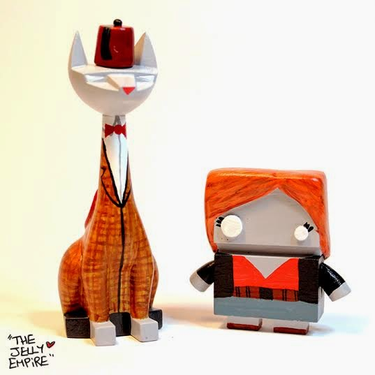 New York Comic Con 2014 Exclusive Doctor Who Eleventh Doctor Tuttz & Amy Pond Jelly Bot Resin Figure Set by The Jelly Empire