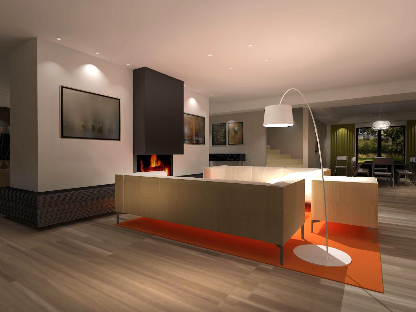 Am nagement int rieur maison h abw warnant architecte for Amenagement interieur maison