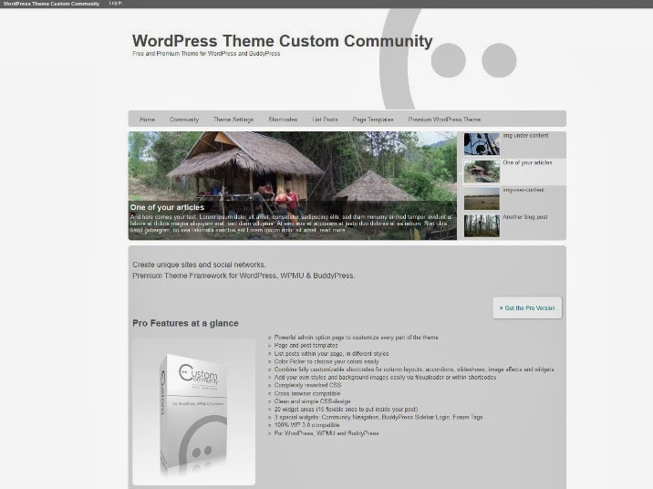 Custom Community Free BuddyPress Theme