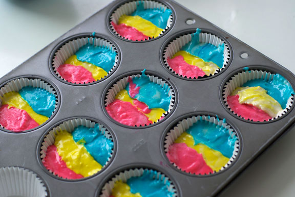 Neon Cupcake Liners