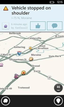 Waze widows phone için harita uygulaması
