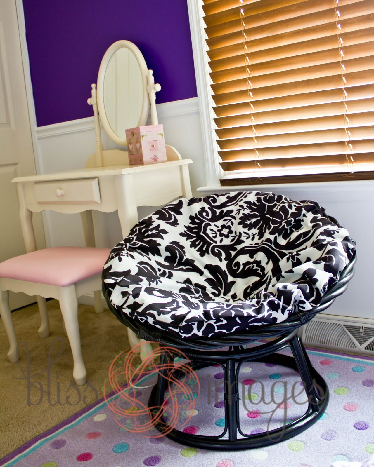 bliss images and beyond papasan makeover