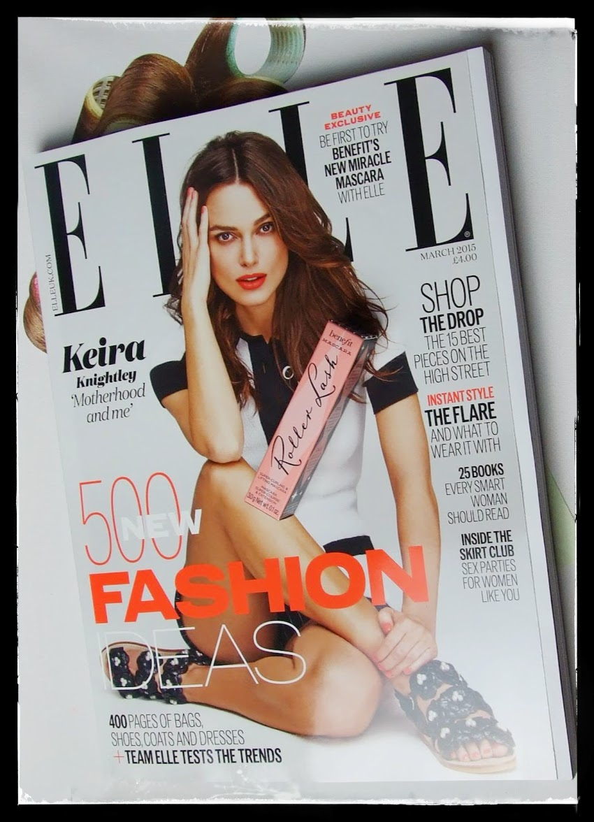UK elle magazine benefit's roller lash mascara new