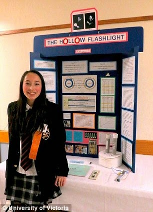 Wunderkind - 15-year-old Ann Makosinski created a flashlight powered purely by body heat